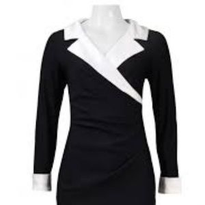 Alex Evenings Black and White Dress